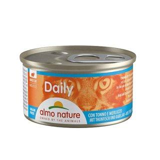 アルモネイチャー デイリーメニュー まぐろとタラ入りお肉のムース(缶詰85g)