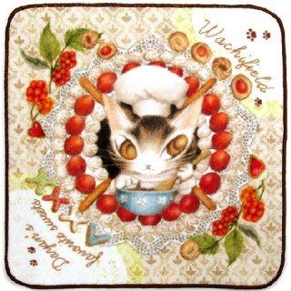 わちふぃーるど 猫のダヤン アートなタオル お菓子のまんだら