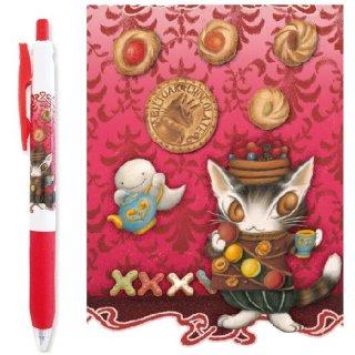 わちふぃーるど 猫のダヤン サラサクリップボールペン0.5 マカロン・赤