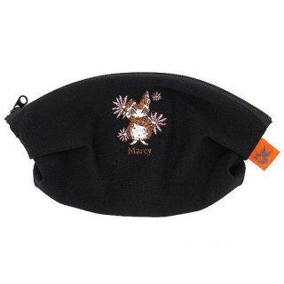 わちふぃーるど 猫のダヤン マーシィメッシュポーチ 黒