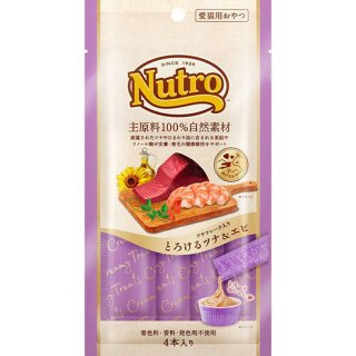 ニュートロ 愛猫用おやつ とろけるツナ&エビ 4本入り(48g)