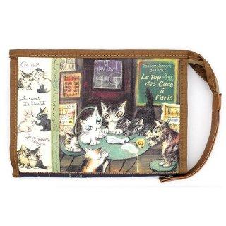 わちふぃーるど 猫のダヤン じゃばらポーチ パリのカフェ