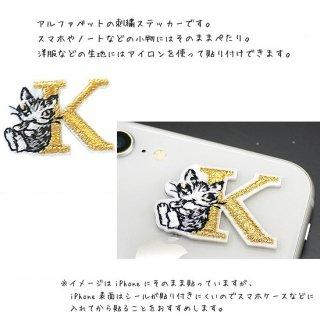 わちふぃーるど 猫のダヤン アップリケ刺繍ステッカー ダヤン・K