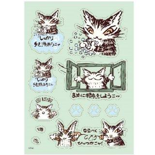 わちふぃーるど 猫のダヤン メッセージステッカー アテンション