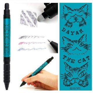 わちふぃーるど 猫のダヤン 消せる3色ボールペンR:E3 BIZ ダヤンズ・ターコイズ