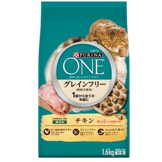 ピュリナ ワン 1歳から全ての年齢に グレインフリー(穀物不使用) チキン 1.6kg(400g×4袋)