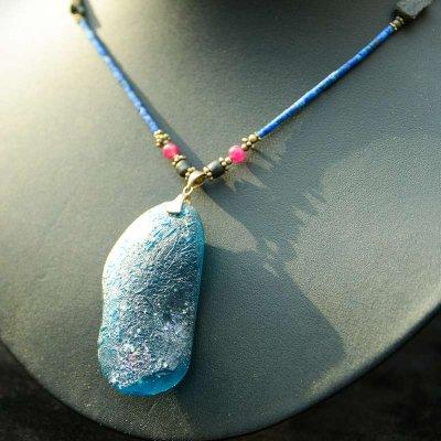 ローマングラス(古代ガラス)ネックレス