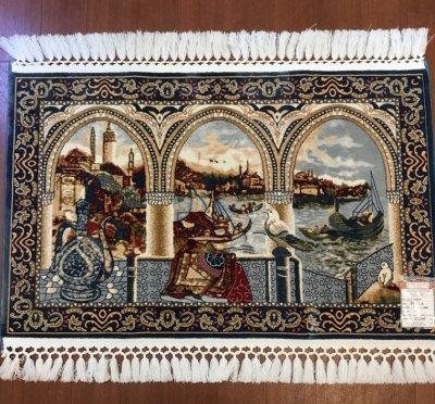 アートシルク トルコ絨毯  玄関サイズ 90×60cm