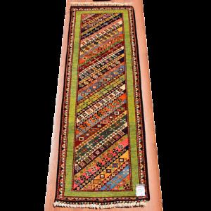 手織りトルコ絨毯  201×73�