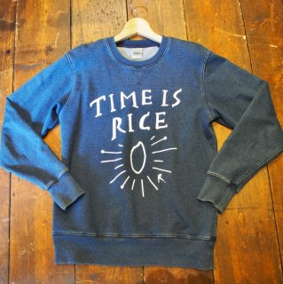 TIME IS RICE DENIM SWEAT