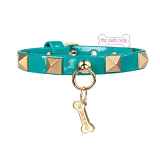 CHIC AND STUD COLLAR GREEN【for pets only】