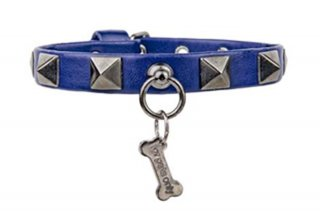 CHIC AND STUD BLUE COLLAR ECOLEATHER【for pets only】<img class='new_mark_img2' src='https://img.shop-pro.jp/img/new/icons11.gif' style='border:none;display:inline;margin:0px;padding:0px;width:auto;' />