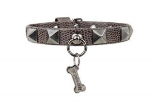 CHIC AND STUD CHOCO COLLAR ECOLEATHER【for pets only】