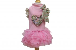 collabo dress pink【for pets only】