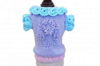 【ご予約】Hand knit summer sweater with swarovski40【IT-DOGS】<img class='new_mark_img2' src='https://img.shop-pro.jp/img/new/icons11.gif' style='border:none;display:inline;margin:0px;padding:0px;width:auto;' />