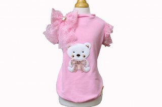 LITTLE BABY BEAR T-SHIRT PINK JERSEY【for pets only】