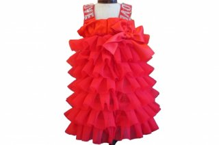 Doll dress ruches red crystal loveband 【IT-DOGS】