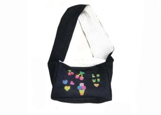 9-shoulder bag denim with crystals【IT-DOGS】