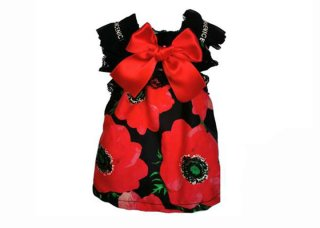 <img class='new_mark_img1' src='https://img.shop-pro.jp/img/new/icons11.gif' style='border:none;display:inline;margin:0px;padding:0px;width:auto;' />30-doll dress poppy flowers【IT-DOGS】