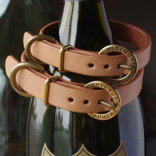厚い一枚革の首輪(リングバックル)