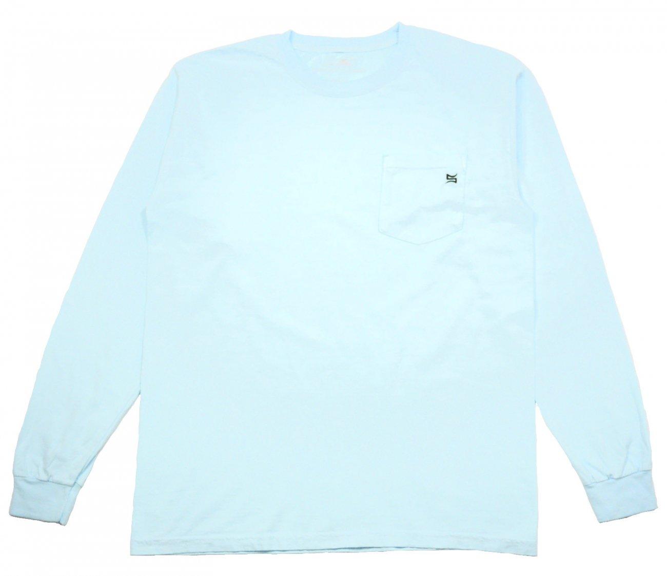 Pocket Embroidered LS Sky Blue