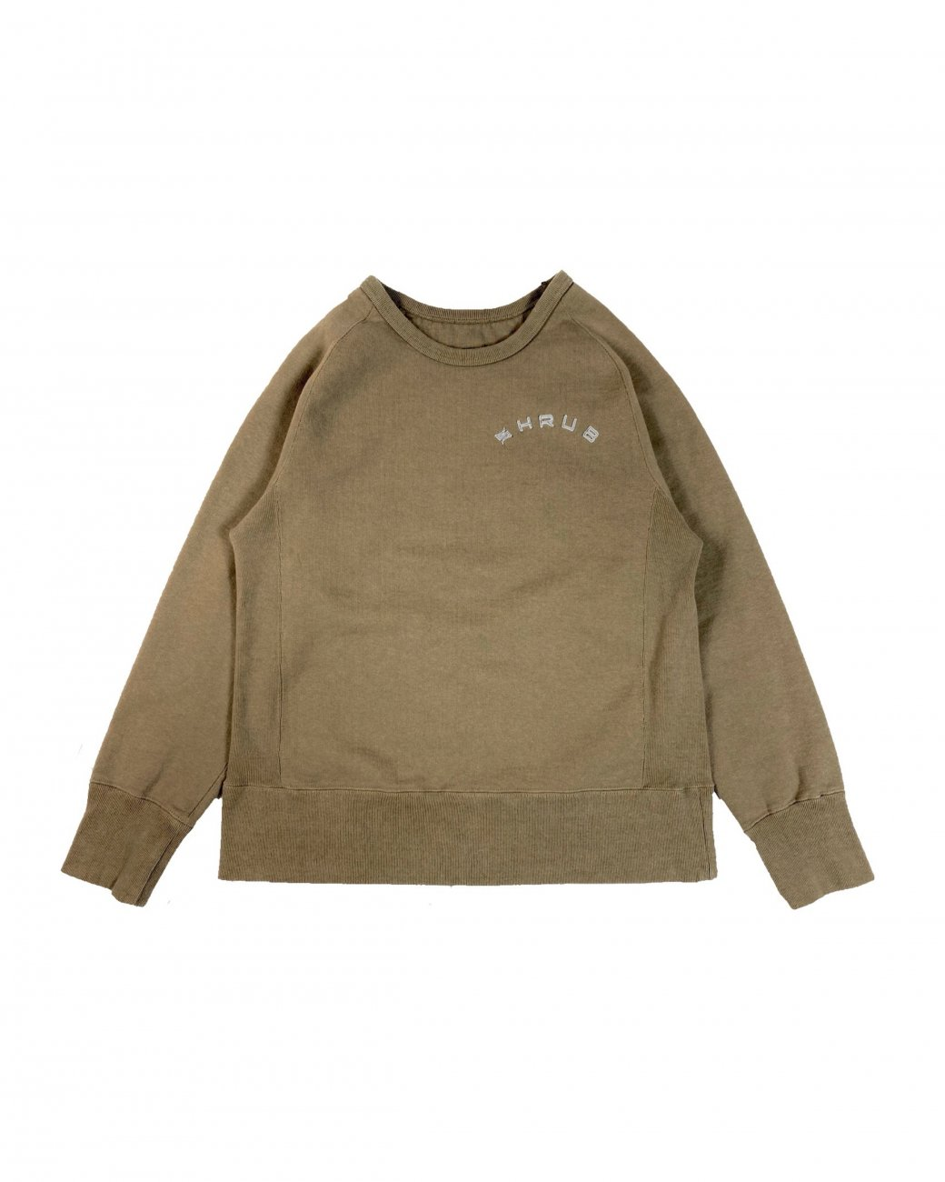 Garment Dyed Crew Neck Olive drab