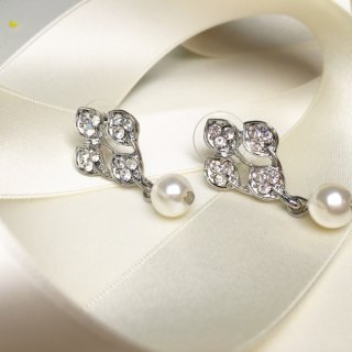 【Rachel】リーフ&パールピアス【Import Collection】