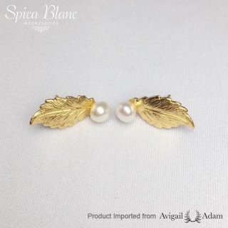 【Gold Leaves & Pearls】 ピアス【Avigail Adam】