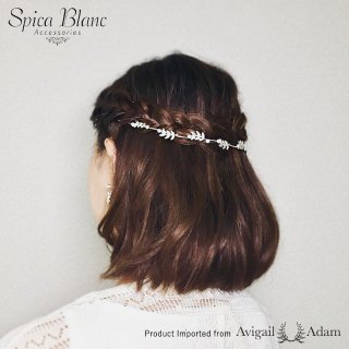 【Six Stems Pearls Wreath】カチューシャ【Avigail Adam】
