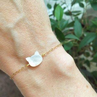 【Chat Blanc】白猫モチーフブレスレット【Stella Mai】