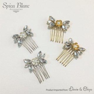 【 ABIGAIL】 コームヘッドドレス・silver/gold【Davie & Chiyo】