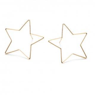 【Medium Star】14Kgfゴールドピアス【by boe (バイボー)】