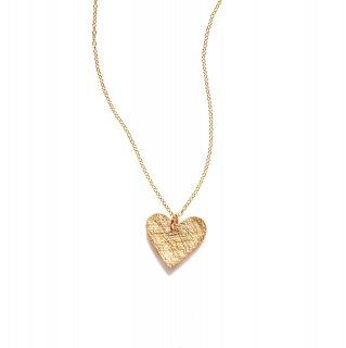 【Heart Plate】14Kgfゴールドネックレス【by boe (バイボー)】
