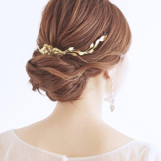 【Rosalyn Hair Wreath】フラワー&リーフのカチューシャ【Avigail Adam】