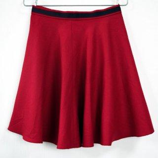 ウールフレアスカート 赤 こっくりとした深みのあるレッド
