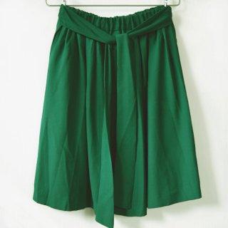リボンフレアスカート 鮮やかで深みのある緑(グリーン)