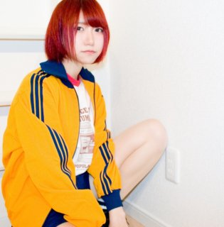 adidas フルジップアップジャージ 三つ葉/トレフォイル DESCENTEボディ 3本ライン 橙黄(オレンジ)