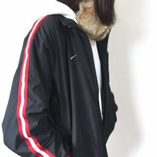 NIKE ナイロントラックジャケット MADE in VUIETNAM 黒×赤白ライン(ブラック)