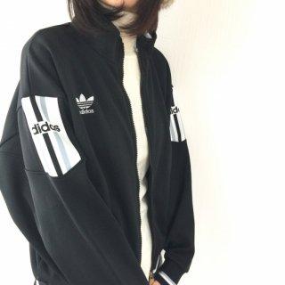 adidas  トラックジャケット 三つ葉トレフォイル 黒(ブラック)