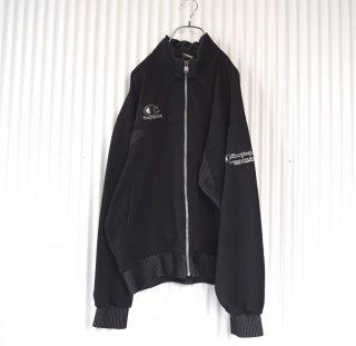 Champion ヴィンテージトラックジャケット 黒×切り替えストライプ