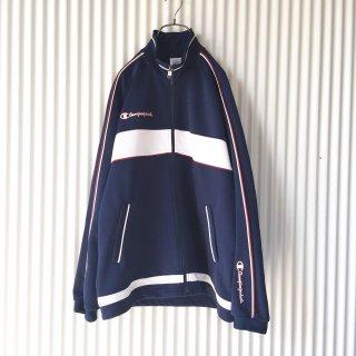 Champion トラックジャケット 紺×白×赤