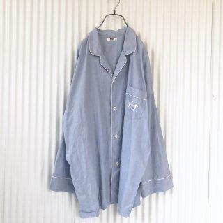エンブレム刺繍パジャマシャツ