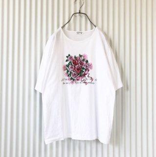 薔薇の花束プリントTee