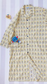 ROUND1 総柄ロングシャツパジャマ