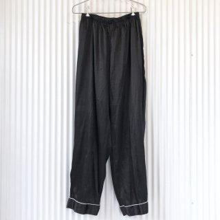 サテンパンツ /ブラック×ホワイトライン