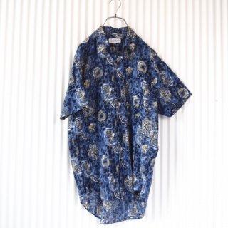 TOROY 麻パターンシャツ