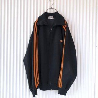 adidas ヴィンテージトラックジャケット/オレンジ3ライン トレフォイル