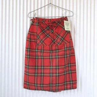 Ken Thompson タータンチェック巻きスカート/UK