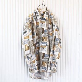 ROYAL TRAINE ブラウンパターンシャツ