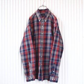 Ralph lauren ポロ刺繍チェックシャツ/LL